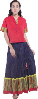 Pink Lemon Women's Top And Skirt Set