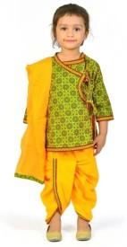 Great Art Baby Girl's Angarkha, Dhoti & Dupatta Set