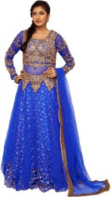 Fashion Sangeet Fashion Women's Churidar, Kurta & Dupatta Set (Blue)