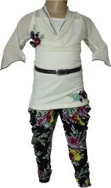 Anjan Girl's Kurta and Pyjama Set