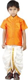 Kaatru Boy's Shirt & Dhoti Set