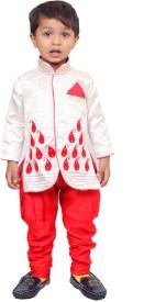 Tiny Toon Baby Boy's Sherwani and Churidar Set