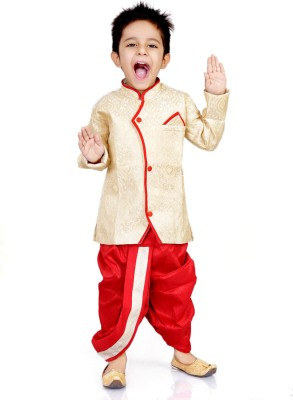 dhoti set for boys   red amp gold shades online stories for kids