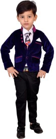 Kabeer Baby Boy's Blazer, Shirt and Trouser Set