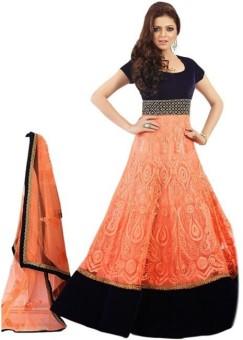 Vinayak Creation Georgette Embroidered, Self Design Salwar Suit Material Un-stitched