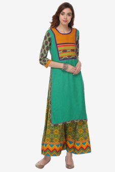 Varanga Women's Kurta And Palazzo Set - ETHEGDDKANTBZCHY