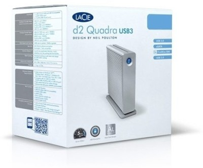 LaCie D2 Quadra USB 3.0 3 TB  External Hard Drive (Grey)