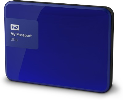 WD My Passport Ultra 2 TB Wired  External Hard Drive (Blue)