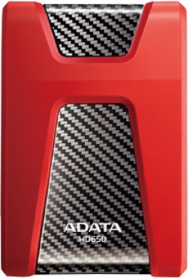 Adata DashDrive Durable 1 TB  External Hard Drive (Red)