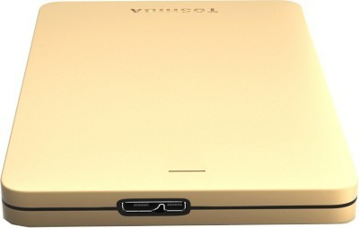 Toshiba Canvio Alumy 1 TB  External Hard Drive (Gold)