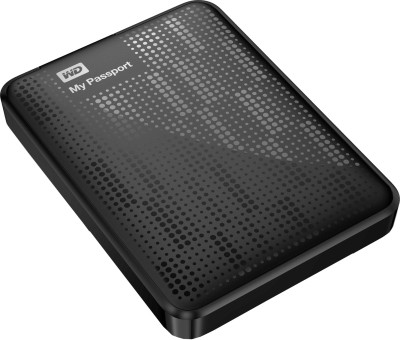 WD My Passport 1 TB External Hard Disk (Black)