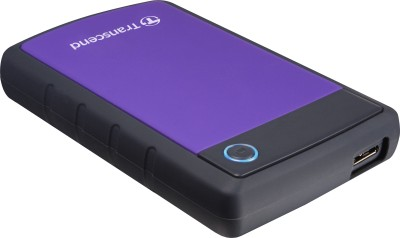 Transcend H3P 2 TB  External Hard Drive (Purple & Black)