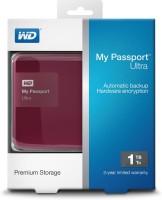Western Digital New WD My Passport Ultra 1TB Usb3.0 Secure Portable Drive Wth Auto Backup Classic 1$$TB Wired  External Hard Drive