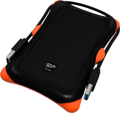 Silicon Power Armor A30 500 GB External Hard Drive (Black & Orange)