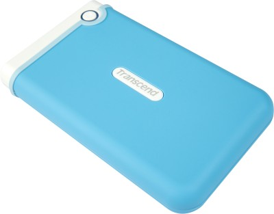 Transcend StoreJet 25M3B 2.5 inch 1 TB Auto-Backup Drive (Light Blue)