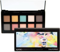 Nyx Professional Eyeshadow Palette - CALIFORNIA 11.2 G (Multicolor)