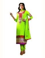 Aanara Georgette Floral Print Semi-stitched Salwar Suit Dupatta Material Fabric - Unstitched - FABDVV4NDGJKNKBF