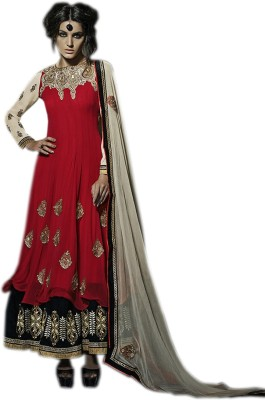 RBGEnterprise Net Embroidered Semi stitched Salwar Suit Dupatta Material available at Flipkart for Rs.11505