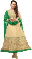 Florence Georgette Self Design Dress/Top Material - Unstitched - FABDYRJ2HVGHZKJR