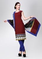 Span Cotton, Georgette, Silk Fabric Unstitched