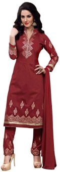 Vbuyz Cotton Embroidered Semi-stitched Salwar Suit Dupatta Material Semi-stitched - FABEAH7BFR5VWM7M