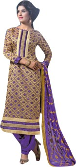 Viva N Diva Cotton Solid Semi-stitched Salwar Suit Dupatta Material Unstitched