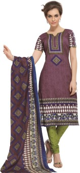 Design Willa Cotton Printed Salwar Suit Dupatta Material Un-stitched - FABEGEYAJ6V5W8TV