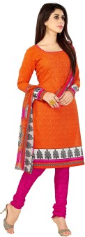 Shonaya Cotton Printed Salwar Suit Dupatta Material Unstitched
