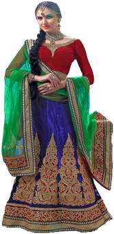 Styles Closet Chiffon Self Design Semistitched Lehenga Choli Material