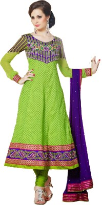 Aayushman Net Floral Print Semi stitched Salwar Suit Dupatta Material available at Flipkart for Rs.4800