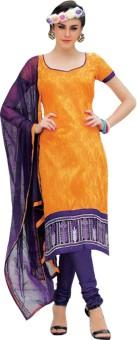 Lepcy Chanderi, Cotton, Chiffon Floral Print Salwar Suit Dupatta Material Unstitched