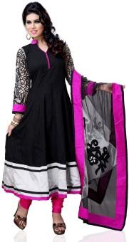 Nine Threads Cotton Self Design Semi-stitched Salwar Suit Dupatta Material Unstitched - FABE2WC5YMH4XN4Q