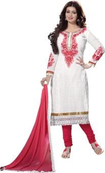 Khushali Chanderi Self Design, Embellished, Embroidered Dress/Top Material Unstitched