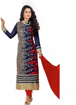 Vinayak Creation Georgette, Net Embroidered, Self Design Salwar Suit Material Un-stitched