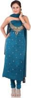Chhabra555 Crepe Printed Salwar Material Fabric Unstitched
