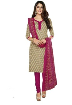 Indian Wear Online Cotton Printed Semi-stitched Salwar Suit Dupatta Material Semi-stitched - FABEEK4W9ZN6TQND
