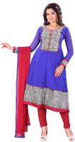 Silkbazar Crepe Self Design Dress/Top Material - Unstitched