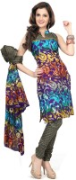 Silkbazar Cotton, Polyester Printed Dress/Top Material - Unstitched