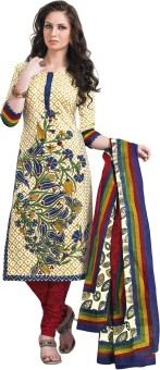 Salwar Studio Cotton Linen Blend Printed Salwar Suit Dupatta Material Unstitched - FABE5HVNGCS4HP3T