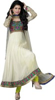 Adah Fashions Georgette Floral Print Semi-stitched Salwar Suit Dupatta Material Fabric - FABDWXZ5YWBZ2PG4