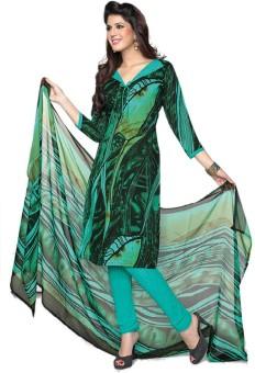 Nazaquat Crepe Printed Salwar Suit Dupatta Material Unstitched