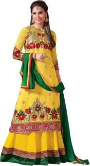 Lineysha Boutique Georgette, Crepe, Chiffon Self Design Salwar Suit Dupatta Material Unstitched - FABE2PPBGXZF7PQ6