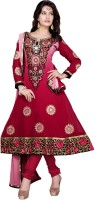 Fashionic Georgette Printed Semi-stitched Salwar Material Fabric Unstitched