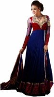 Fashion On Sky Net Solid Semi-stitched Salwar Suit Dupatta Material - Unstitched