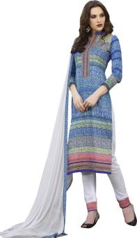Kvsfab Cotton Silk Blend Printed Salwar Suit Material Un-stitched