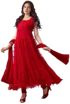 alakhenterprise Georgette Self Design Semi-stitched Salwar Suit Dupatta Material