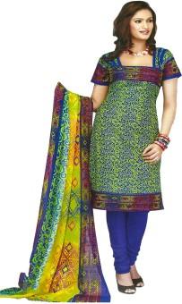 Jevi Prints Cotton Printed, Geometric Print Salwar Suit Dupatta Material Un-stitched