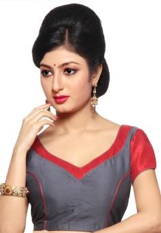 Pratami Cotton Silk Blend Solid Blouse Material Unstitched - FABE78FFPHVUPQRA