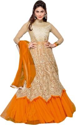Viva N Diva Net Solid Semi stitched Salwar Suit Dupatta Material available at Flipkart for Rs.4699
