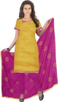 Slassy Chanderi, Chiffon Self Design Salwar Suit Dupatta Material Unstitched